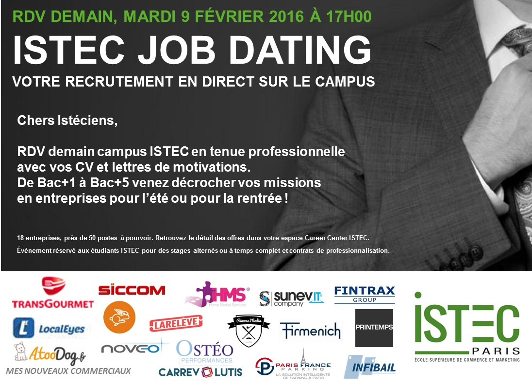 Job rencontres paris 2016