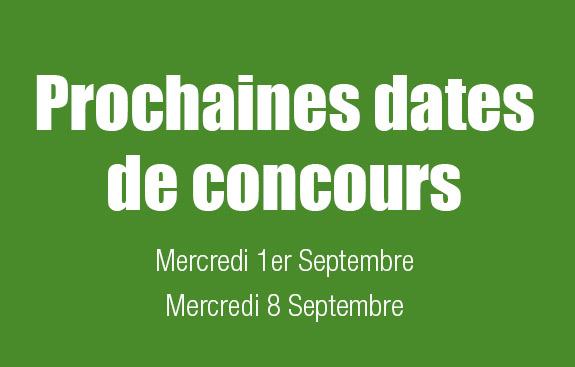 Dates de concours